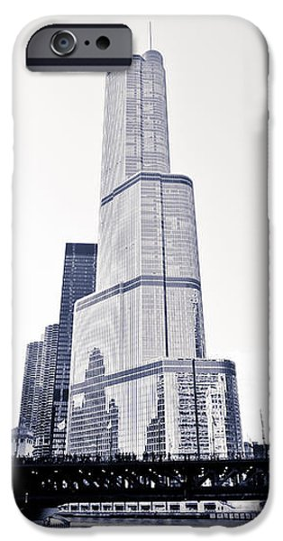 Chicago Trump Tower and Wrigley Building iPhone Case by Paul Velgos