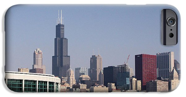 Willis Tower iPhone Cases - Chicago Waterfront iPhone Case by Ely Arsha
