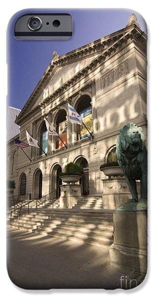 Chicago's Art Institute In reflected light. iPhone Case by Sven Brogren