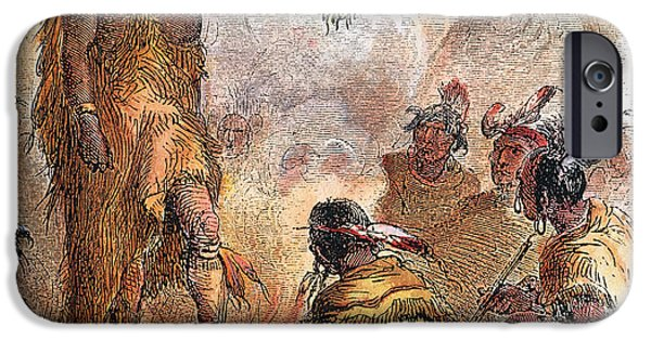 Recently Sold -  - Village iPhone Cases - CHIEF PONTIAC (d.1769) iPhone Case by Granger