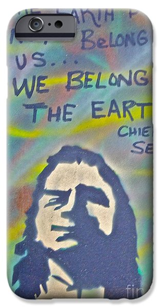 American Conservative Party iPhone Cases - Chief Sealth iPhone Case by Tony B Conscious
