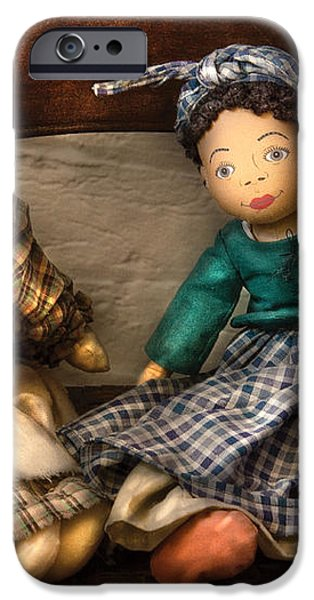 Children - Toys -  Dolls Americana  iPhone Case by Mike Savad
