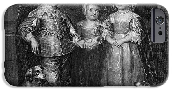 Royal Family Arts iPhone Cases - Children Of Charles I iPhone Case by Granger