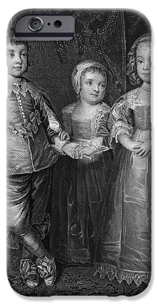 CHILDREN OF CHARLES I iPhone Case by Granger
