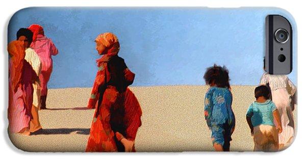 Bedouin iPhone Cases - Children of the Sinai iPhone Case by Kurt Van Wagner