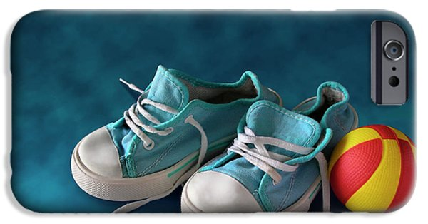 Child iPhone Cases - Children Sneakers iPhone Case by Carlos Caetano