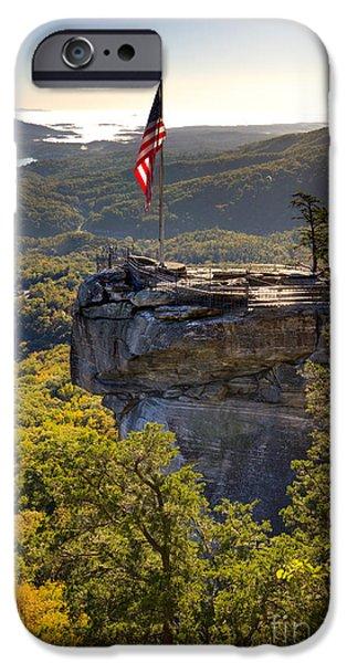 Chimneys iPhone Cases - Chimney Rock State Park North Carolina iPhone Case by Dustin K Ryan