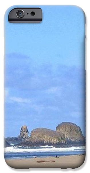 Chimneys Of Cannon Beach iPhone Case by Will Borden