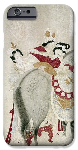CHINA - CONCUBINE AND HORSE iPhone Case by Granger