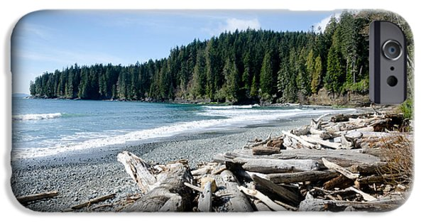 China Beach iPhone Cases - CHINA BEACH vancouver island juan de fuca provincial park iPhone Case by Andy Smy