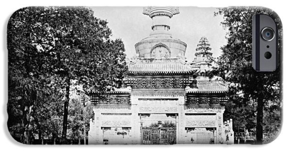 Tibetan Buddhism iPhone Cases - CHINA: CENOTAPH, c1900 iPhone Case by Granger