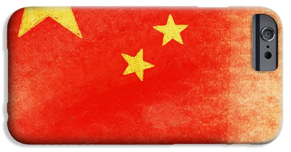 Patriotism iPhone Cases - China flag iPhone Case by Setsiri Silapasuwanchai