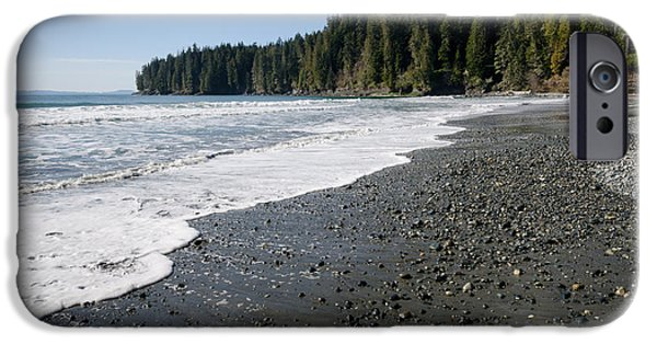 China Beach iPhone Cases - CHINA WAVE china beach juan de fuca provincial park vancouver island BC iPhone Case by Andy Smy