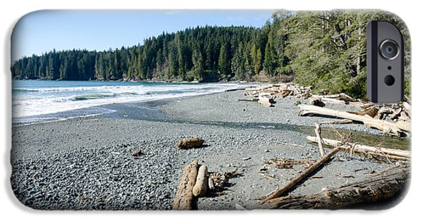 China Beach iPhone Cases - CHINA WIDE china beach juan de fuca provincial park vancouver island BC canada iPhone Case by Andy Smy