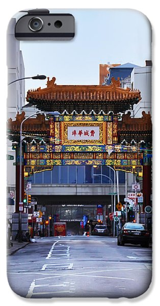 Chinatown - Philadelphia iPhone Case by Bill Cannon