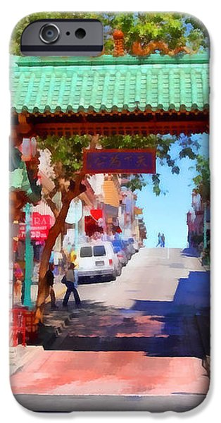 Chinatown Gate In San Francisco . 7D7139 iPhone Case by Wingsdomain Art and Photography
