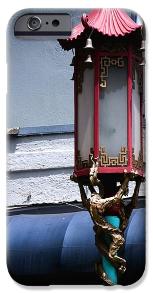 City Scape iPhone Cases - Chinatown Lantern iPhone Case by Anthony Citro