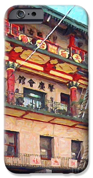 Chinatown iPhone Case by Wingsdomain Art and Photography