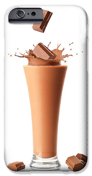 Protein iPhone Cases - Chocolate Milkshake Smoothie iPhone Case by Amanda And Christopher Elwell