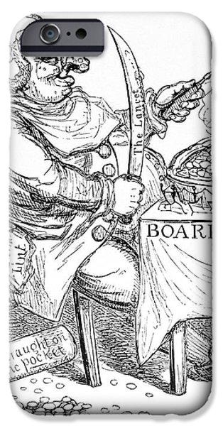 Cholera Doctor, Satirical Artwork iPhone Case by