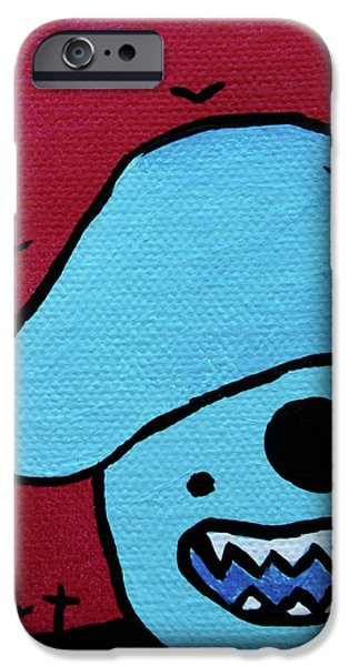 Chomping Zombie Mushroom iPhone Case by Jera Sky