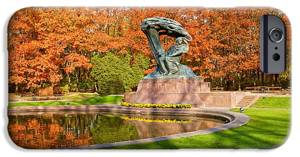 Polish Culture iPhone Cases - Chopin Monument in the Lazienki Park iPhone Case by Artur Bogacki
