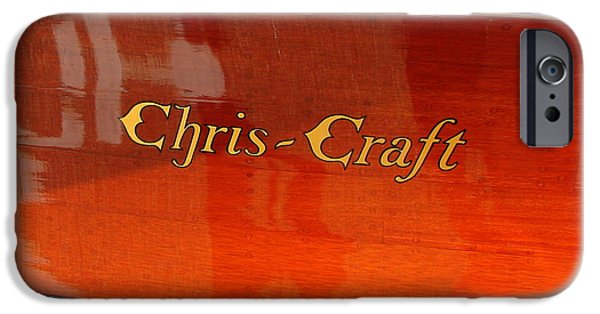 Michelle Calkins iPhone Cases - Chris Craft Logo iPhone Case by Michelle Calkins