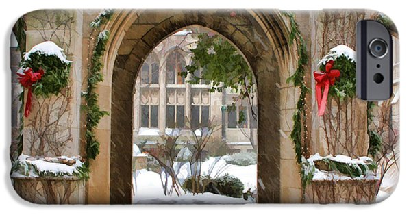 Winter iPhone Cases - Christmas Arch iPhone Case by Christopher Arndt