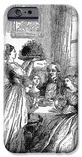 1870 iPhone Cases - CHRISTMAS DINNER, c1870 iPhone Case by Granger
