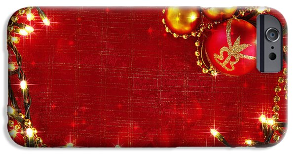 Backdrop iPhone Cases - Christmas Frame iPhone Case by Carlos Caetano