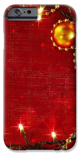 Christmas Frame iPhone Case by Carlos Caetano