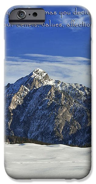 Christmas in Austria Europe iPhone Case by Sabine Jacobs