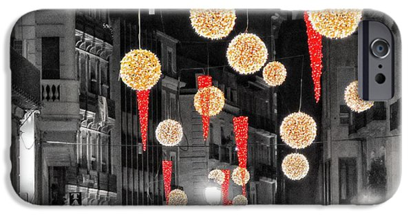 Christmas iPhone Cases - Christmas Lights in Alicante iPhone Case by Marianna Mills