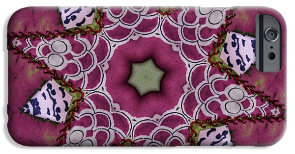 Quilt Blue Blocks iPhone Cases - Christmas Star iPhone Case by Bonnie Bruno