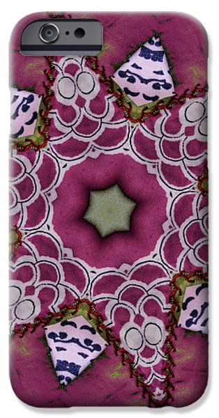 Christmas Star iPhone Case by Bonnie Bruno