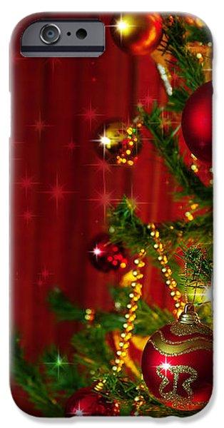 Christmas Tree Detail iPhone Case by Carlos Caetano