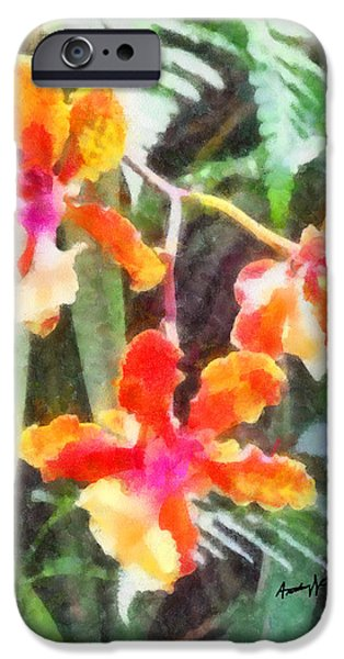 ChromaticOrchids iPhone Case by Anthony Caruso