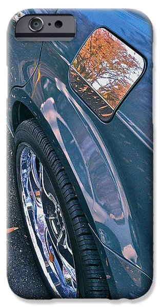 Car Hod Photographs iPhone Cases - Chrome Tree iPhone Case by Bill Owen
