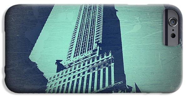 Nyc Digital Art iPhone Cases - Chrysler Building  iPhone Case by Naxart Studio