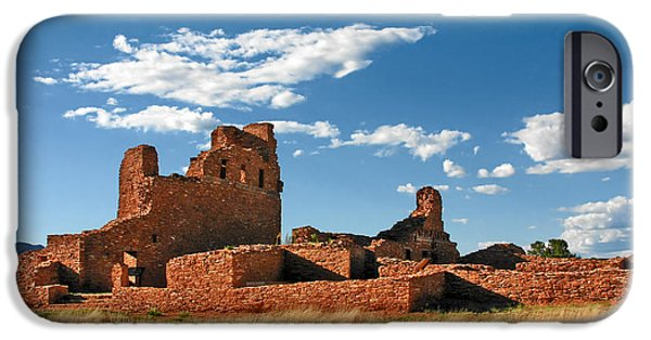 Pueblo Architecture iPhone Cases - Church Abo - Salinas Pueblo Missions Ruins - New Mexico - National Monument iPhone Case by Christine Till