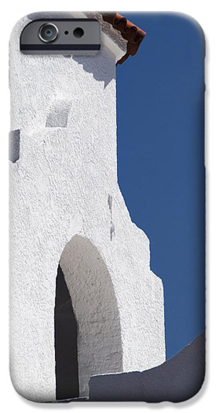 Church Bell Tower Chacras De Coria iPhone Case by Philippe Widling