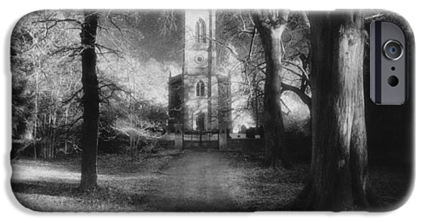 Facade iPhone Cases - Church of St Mary Magdalene iPhone Case by Simon Marsden