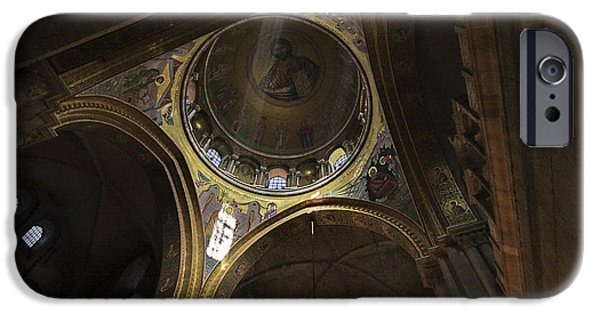 Psi iPhone Cases - church of the holy sepulchre Jerusalem iPhone Case by Vladi Alon