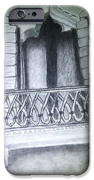 First Term iPhone Cases - Church Window iPhone Case by Irving Starr