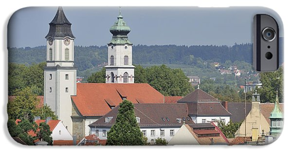 City Scape iPhone Cases - Churches in Lindau Germany iPhone Case by Matthias Hauser