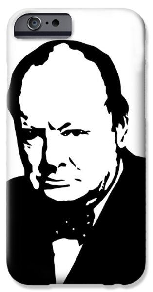 Statesman iPhone Cases - Churchill iPhone Case by War Is Hell Store