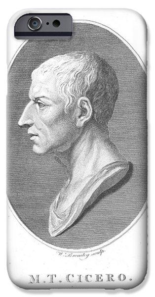 Orator iPhone Cases - Cicero, Roman Philosopher iPhone Case by Photo Researchers