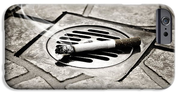 Drain iPhone Cases - Cigarette iPhone Case by Joana Kruse