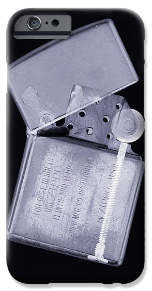 Mechanism iPhone Cases - Cigarette Lighter, Simulated X-ray iPhone Case by Mark Sykes
