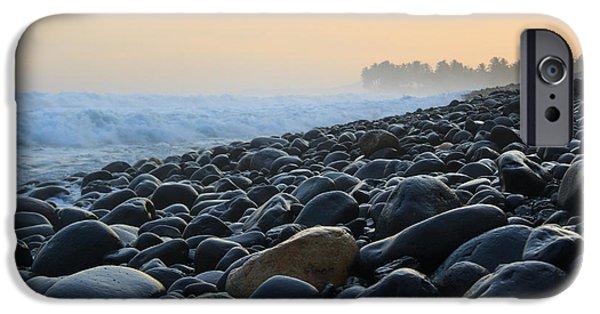 Ocean Sunset iPhone Cases - Cimaja Beach - Pelabuhan Ratu iPhone Case by Arie Toursino